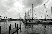Sailboats and Dock