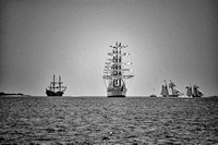 Tall Ships on Charleston Harbor